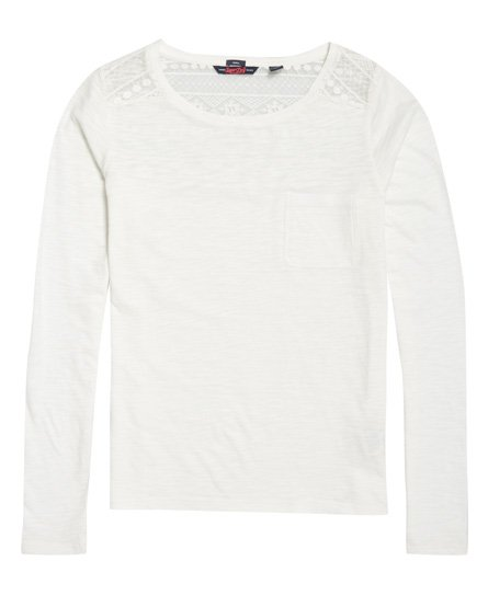 Superdry Palms Embroidered Mesh Top