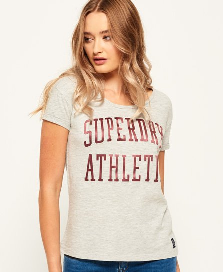 Superdry T-shirt coupe boyfriend slim Athletic