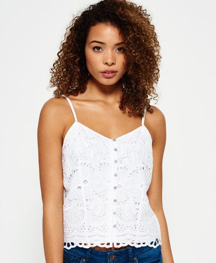 Superdry Crop Cami Embroidered Top