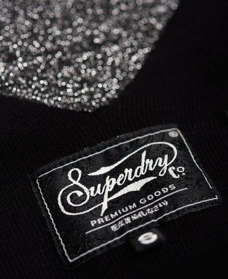 Superdry Robe en maille métallisée à dos en V