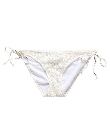 Superdry Bas de bikini à dentelle en losange
