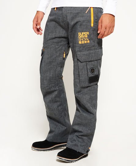 Superdry Mens Pants in Grey Marl