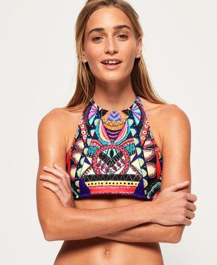 Neon Tribal Bikini Top