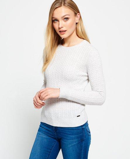 Luxe Mini strikkegenser i flettestrikk