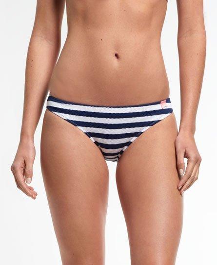 Superdry Bas de bikini à rayures Marine.