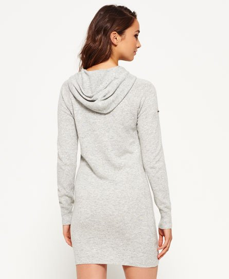 Superdry Robe à capuche en maille Luxe