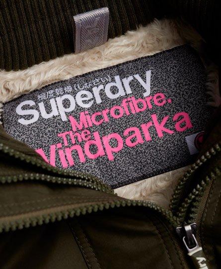 Superdry Parka coupe-vent en microfibre Tall