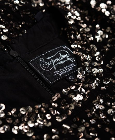 Superdry Robe moulante à sequins Luxe