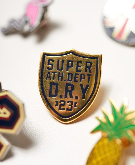 Superdry Lot de badges style pin's