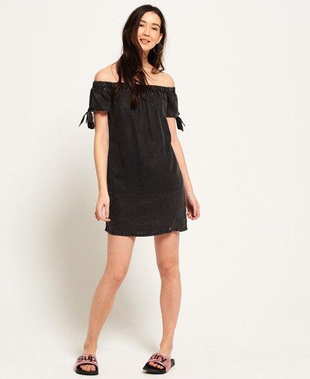 Superdry Alexia-kjole med bare skuldre