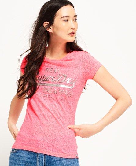 Superdry T-shirt à logo en relief métallisé Vintage