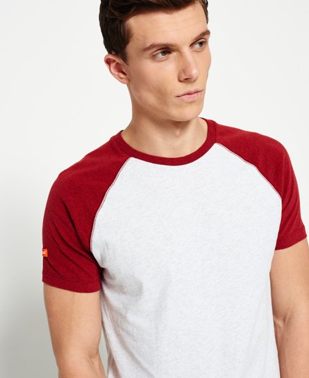 3f3124be Superdry Orange Label Short Sleeve Baseball T-shirt - Men's T Shirts