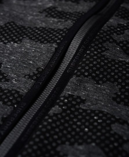 Superdry Gym Tech hættetrøje med lynlås