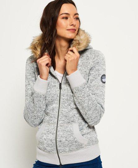 Superdry Storm hoodie met rits en imitatiebont