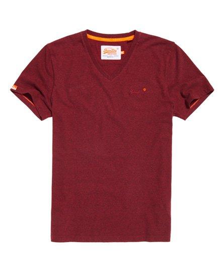 Superdry Vintage Emblem V ringad T shirt Killar T shirtar