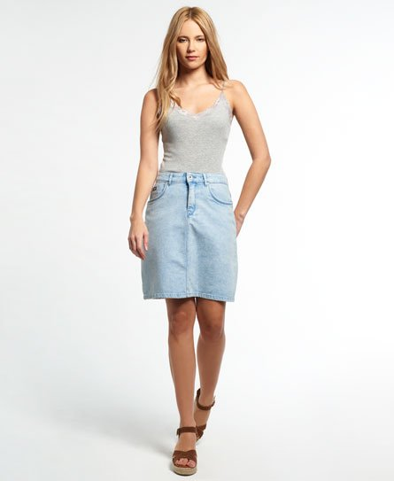 Superdry Jupe trapèze en denim