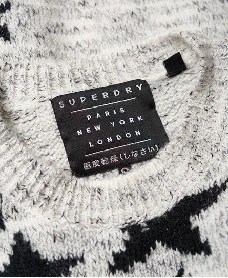 Superdry Pull en maille jacquard à motif étoile ombré