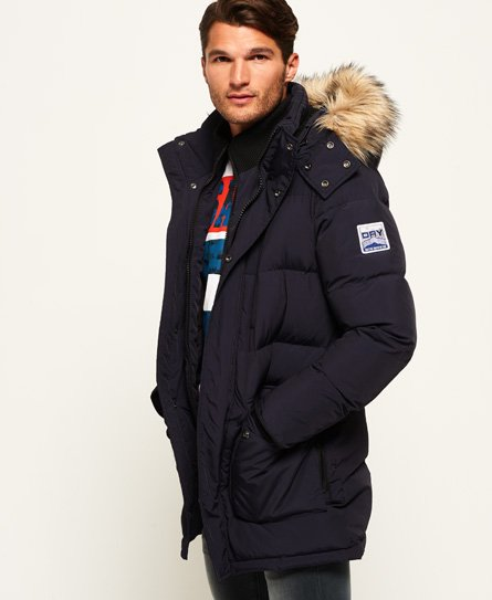 Mens Sd Expedition Parka Jacket In Navy Superdry
