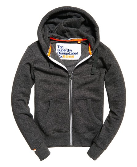 Superdry Orange Label hættetrøje med lynlås