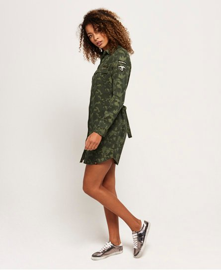 Superdry Vestido camisero Military Amber