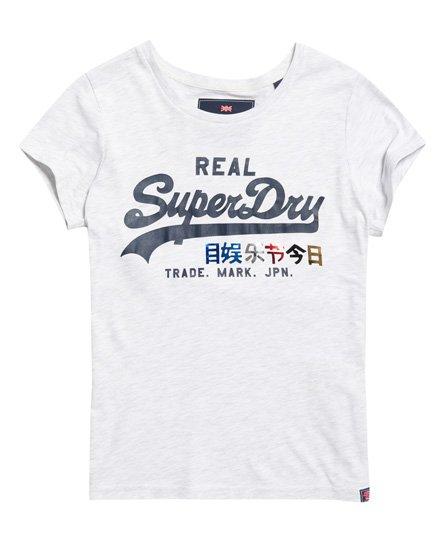 Superdry Vintage Logo Pop T-Shirt mit Folien-Print