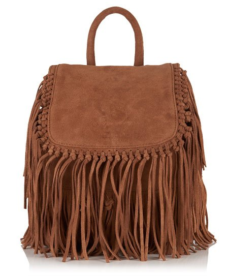 Superdry Premium Suede Neo Nomad Fringed Backpack