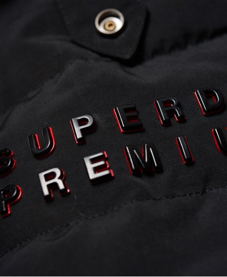 Womens - Premium Down Slick Jacket in Black | Superdry