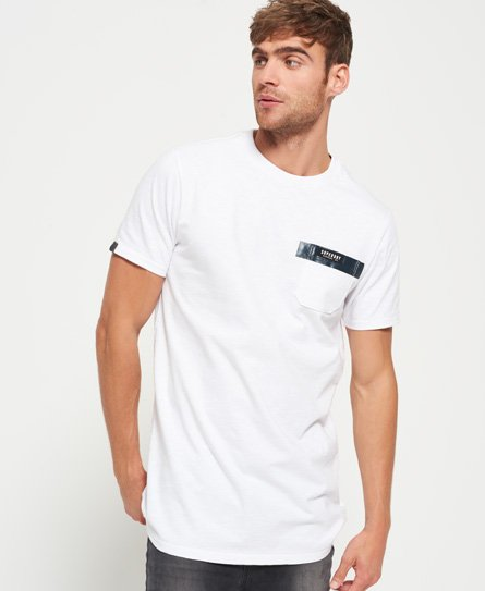 superdry surplus goods longline t shirt mit brusttasche. Black Bedroom Furniture Sets. Home Design Ideas