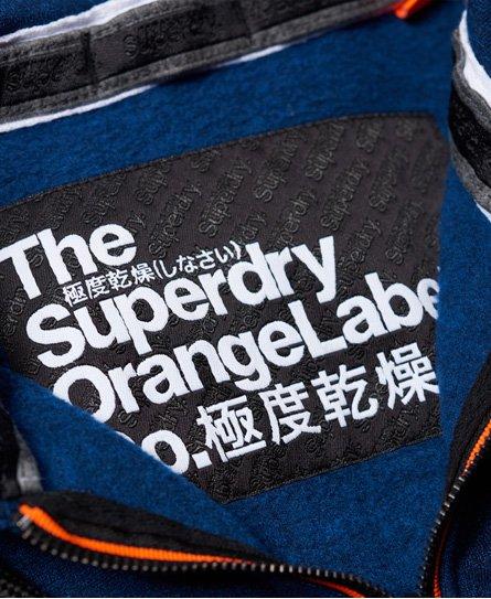 Superdry Orange Label Urban Flash huvtröja med dragkedja