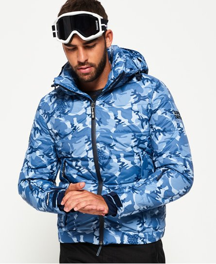 bbb2942fa4968 Mens - Ski Command Utility Jacket in Blue Ice Camo | Superdry