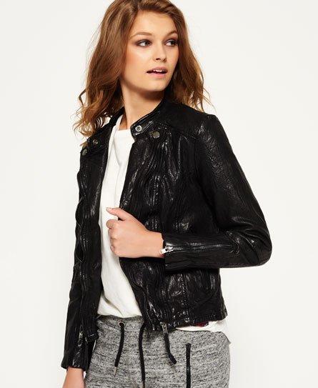 Superdry Silka Leather Biker Jacket