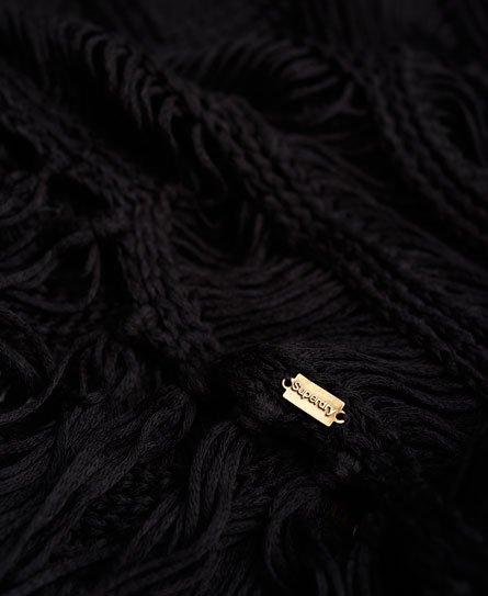 Superdry Gehaakte Zea Tassel jurk