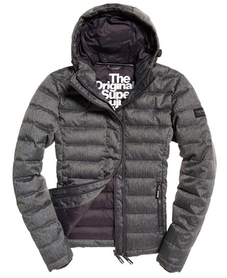Superdry Double Zip Tweed Fuji Hooded Jacket