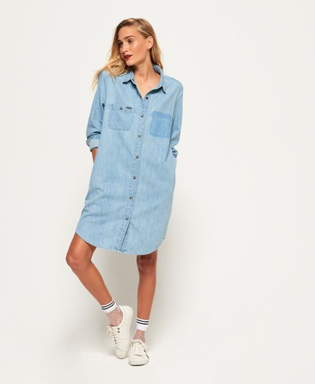 Superdry Robe chemise en jean oversize