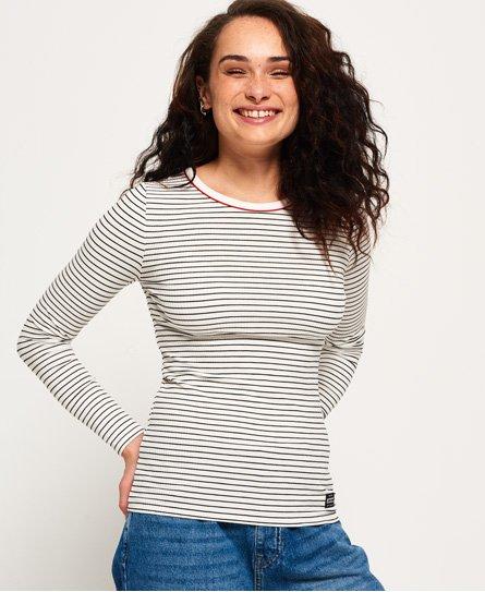 Superdry Pacific Long Sleeve Stripe Top