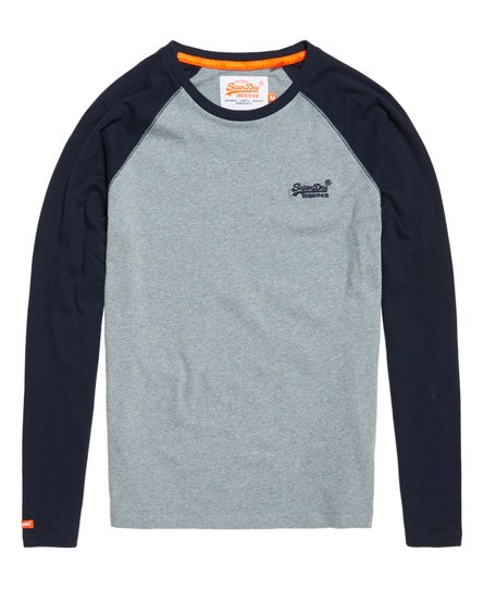 Superdry Orange Label Baseball Long Sleeve T-shirt