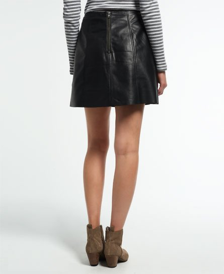 Superdry Billie Leather Pocket Skirt