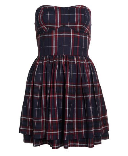 7ff19ea73482 Womens - Savannah Prom Plaid Dress in Alaska Ruby Check | Superdry