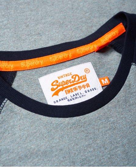 Camiseta Beisbolera Orange Para Hombre Superdry Label Camisetas zMVpSGqU