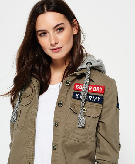Superdry Chemise Washed Twill Military