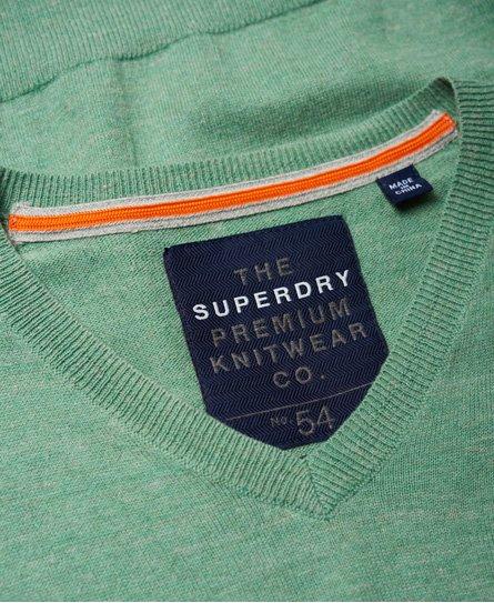 Superdry Pull col en V Orange Label