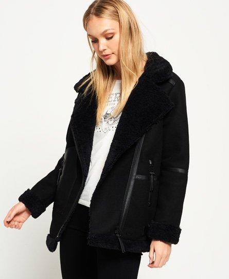 Superdry Ophelia Wool Aviator Jacket