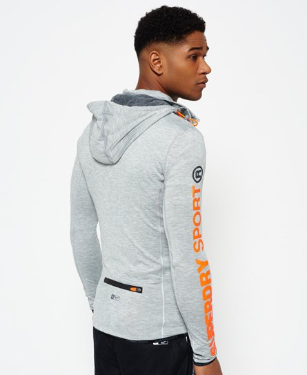 Superdry Sweat à capuche zippé à empiècement Sports