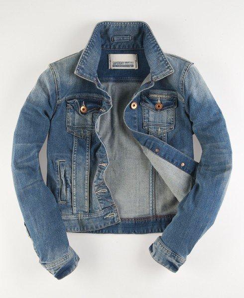 uk availability a53c4 479d9 Superdry Blue Jeans Jacke - Damen Jacken & Mäntel