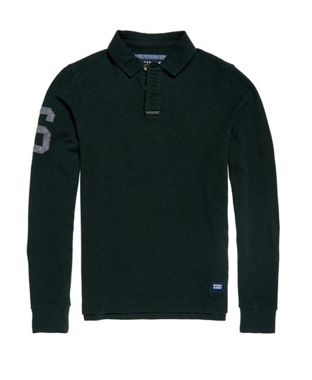 Superdry Academy Rugby Long Sleeve Polo Shirt