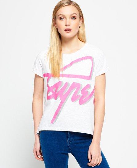 Superdry  T-shirt boyfriend à col rond 3D