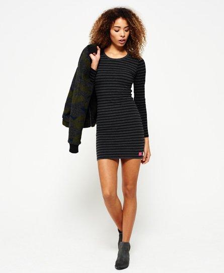 Superdry Stripey-kjole med lange ermer