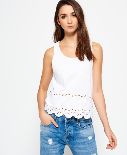 Superdry Beach Broderie Shell Top