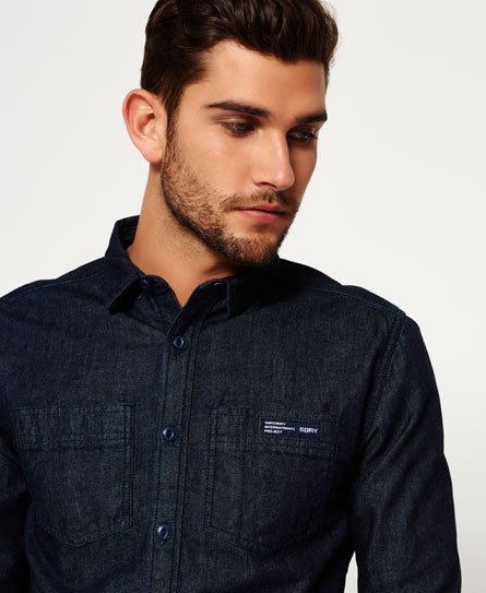 Mens - Rookie Raw Denim Riveter Shirt In Raw Denim