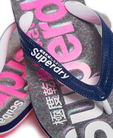 Superdry Scuba-flip-flop-strandsandaler med bleknet logo